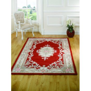 Rugs With Flair Lotus Premium Oriental Rug Red